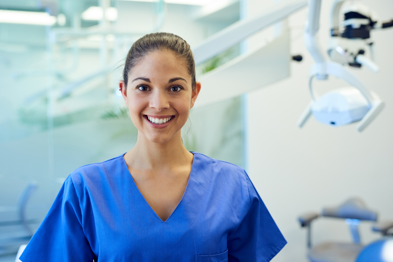Photo of a dental assistant