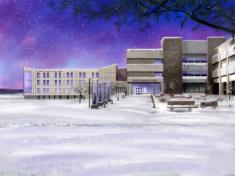MWCC Entrance In Winter